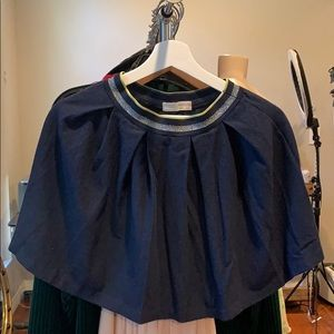 ZARA Navy Blue Skirt